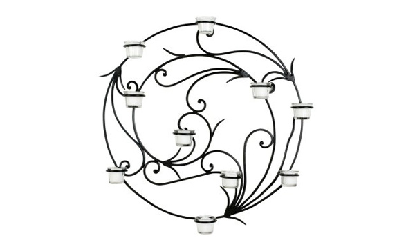 Iron Tendril Wall Candle Holder