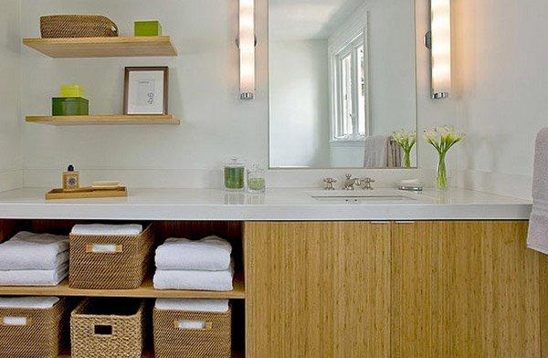Craftsman Green Bath Shelve