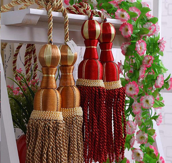 Cord Tassel Curtain Tiebacks