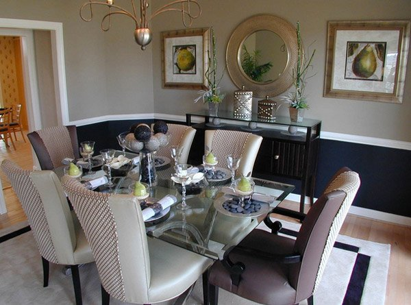 Model Home Dining Rooms 15 lovely glass table dining rooms | home design lover