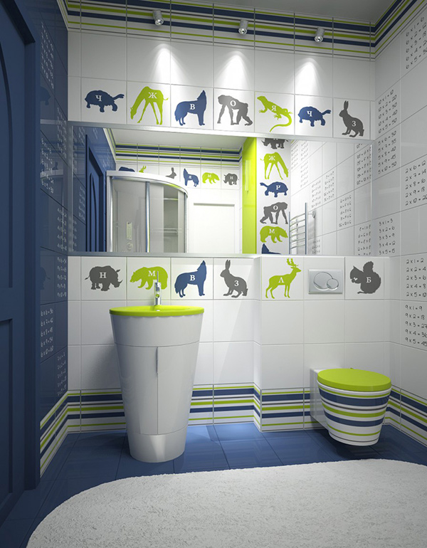 18 Colorful and Whimsical Kids Bathroom – Kids Bathroom Tile