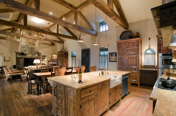 15 Perfectly Distressed Wood Kitchen Designs Home Design