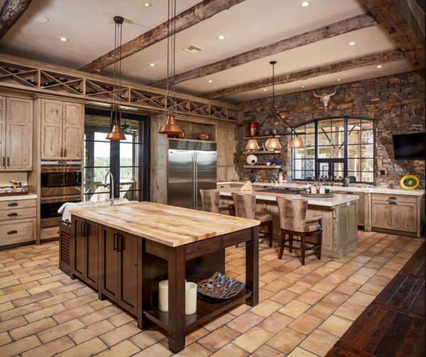 The Color Of This Rustic Kitchen Is Fascinating And Really Lovely The