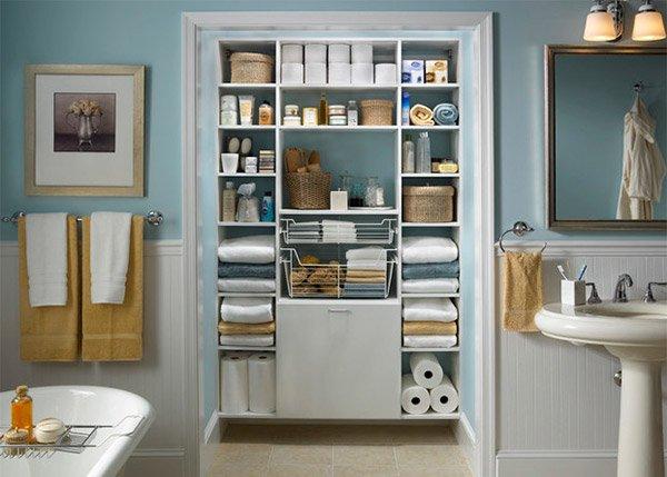 bathroom shelving design ideas  home design lover, Bathroom decor
