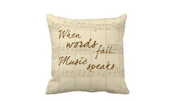 Music Speaks Pillow