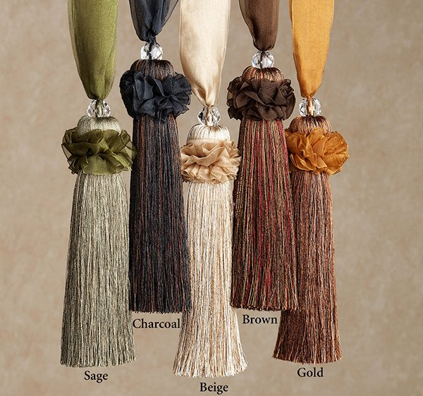 Ghazal Decorative Tassel Tiebacks