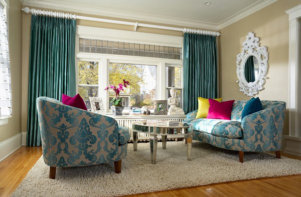 15 Scrumptious Turquoise Living Room Ideas | Home Design Lover