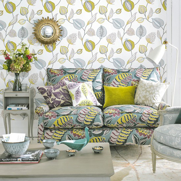 grey green living rooms