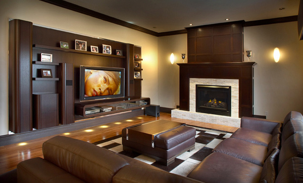 15 modern day living room tv ideas home design lover for Wall mounted tv designs living room