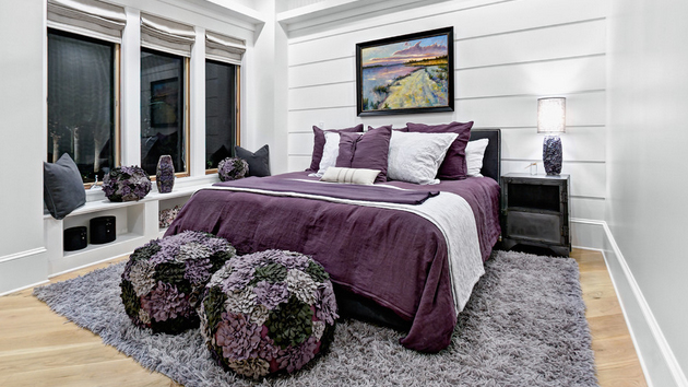 Black And White And Purple Bedroom 15 stunning black, white and purple bedrooms | home design lover