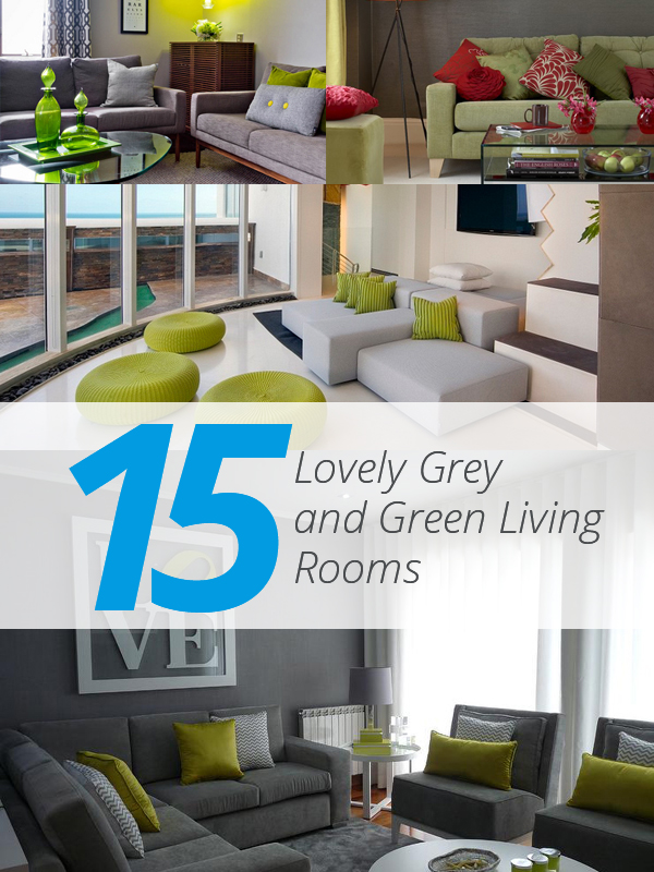 List deluxe 15 beautiful grey and green residing rooms for Green and grey living room ideas