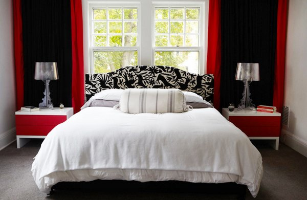 15 Pleasant Black White And Red Bedroom Ideas Home