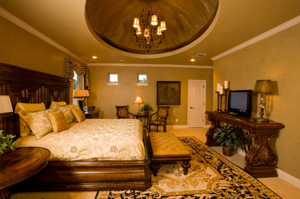 15 extravagantly beautiful tuscan style bedrooms home for Mediterranean style bedroom