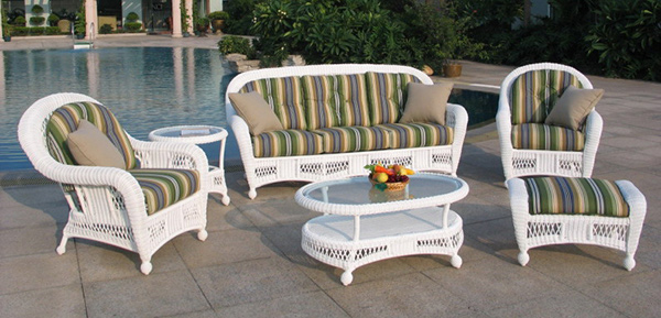 St. Lucia 6 Piece Outdoor Wicker Sofa Set