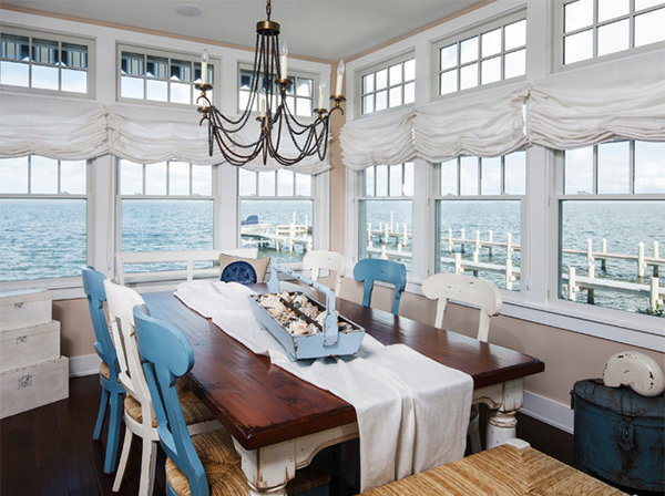 15 beach themed dining room ideas home design lover for Ocean themed interior design
