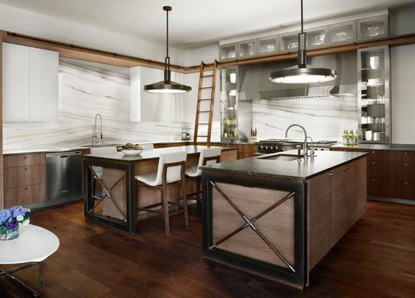 15 outstanding industrial kitchens home design lover for Industrial style kitchen designs