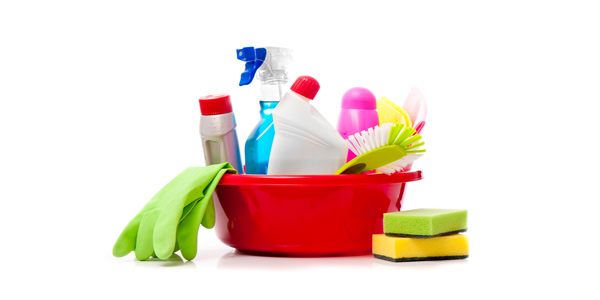 Keep chemicals and cleaning materials well