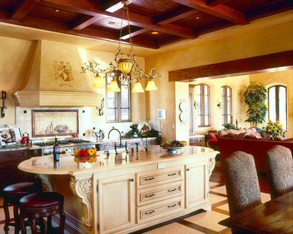15 stunning mediterranean kitchen designs home design lover for Italian style kitchen designs