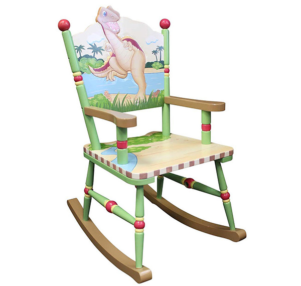 This dinosaur themed rocking chair will drive your kids to the time of ...