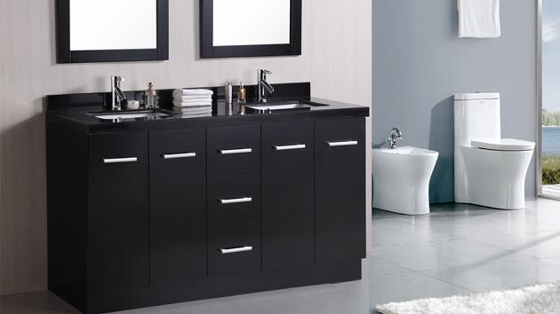 15 black bathroom vanity sets | home design lover