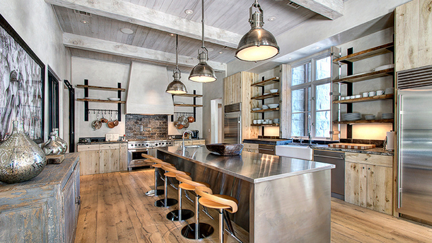 15 outstanding industrial kitchens home design lover for Industrial modern kitchen designs