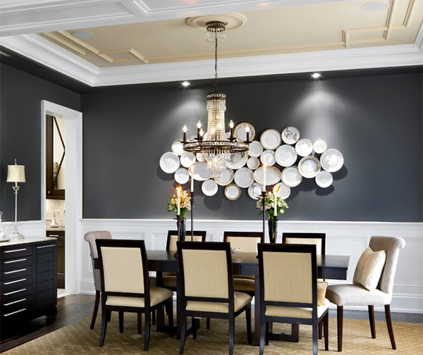 15 dining room walls decorated with plates | home design lover