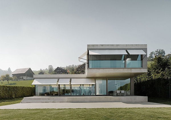 ... of the houses exterior of sleek lines and minimalist modern design