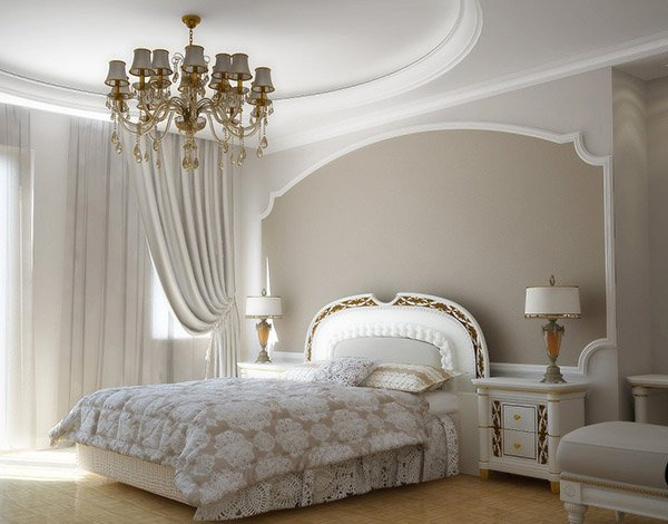 15 modern vintage glamorous bedrooms home design lover for Vintage bedroom wallpaper
