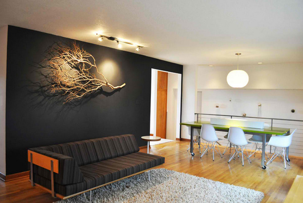 Black wall accents