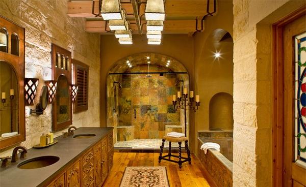 rustic mediterranean ranch - Mediterranean Bathroom Design