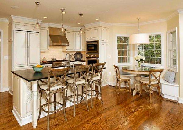 wooden chair - Kitchen Nook Design