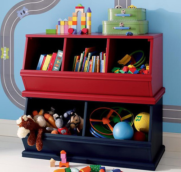 Creative toy storage ideas in 15 designs home design lover for Living room storage for toys