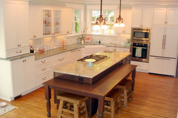 15 beautiful kitchen island with table attached home 15 beautiful kitchen island with table attached home