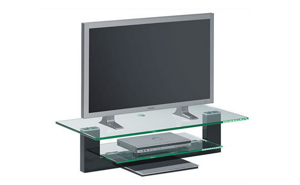 slim tv glass stand