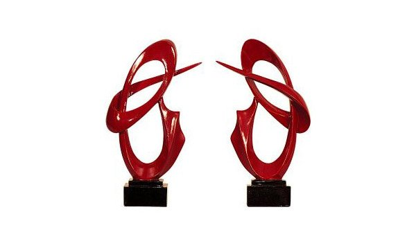 Red Resin Sculpture