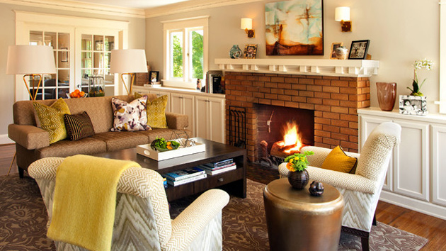 15 warm craftsman living room designs home design lover - Arts and crafts home interior design ...