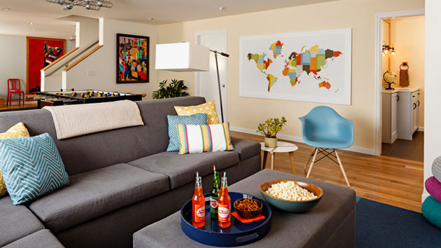 15 modern and contemporary living room basement designs home design