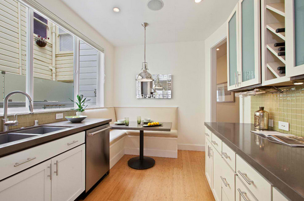 15 charming corner kitchen tables home design lover - Corner kitchen nook table ...