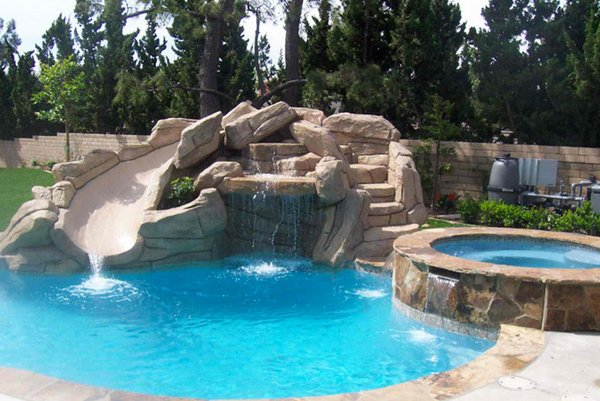 Beautiful rock swimming pools