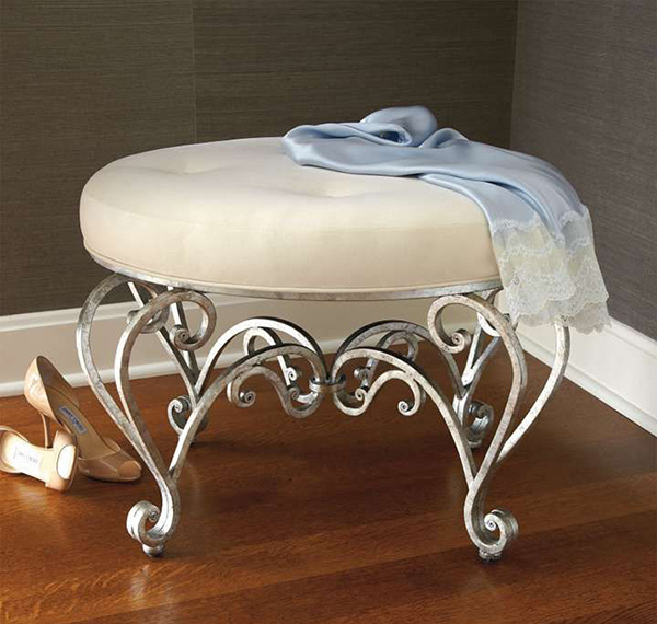 17 Elegant and Stylish Bedroom Vanity Stools | Home Design Lover