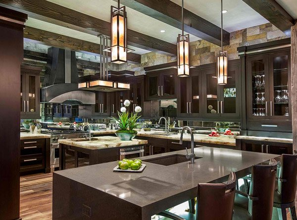 15 big kitchen design ideas home design lover for Huge kitchen designs