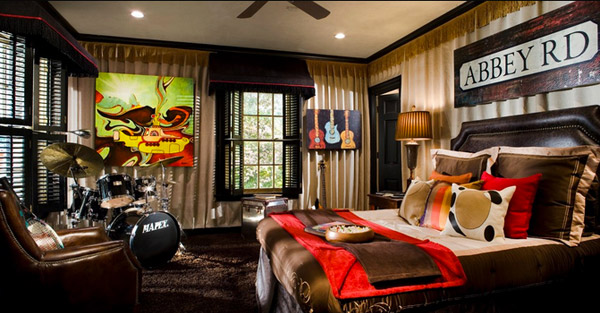 Beatles Room  10 Interesting Music Themed Bedrooms 2 Beatles Room