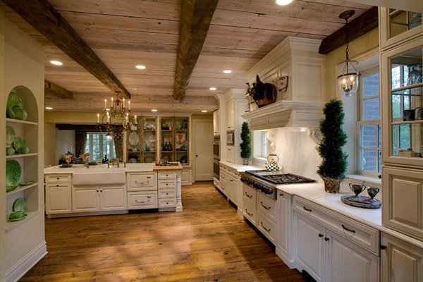 15 traditional and white farmhouse kitchen designs | home design lover