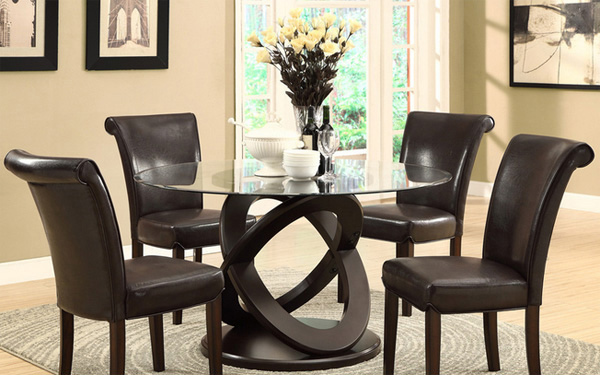 15 unique styles of round glass dining table | home design lover