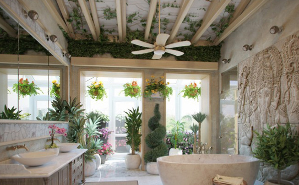 Nature Themed Bathroom