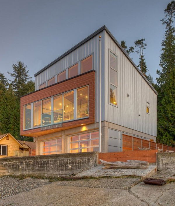 The impressive design of the tsunami house in camano for Home plans washington state