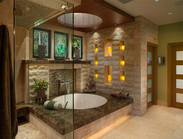 get nature's feel in 15 asian themed bathrooms | home design lover