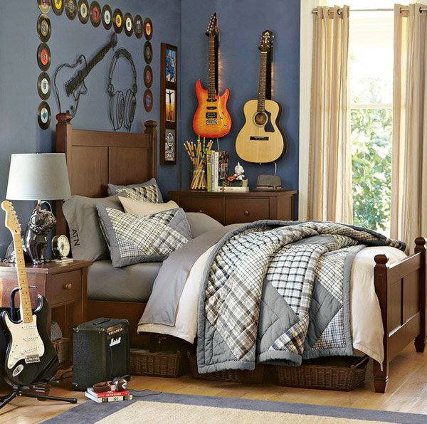 Musical Notes  10 Interesting Music Themed Bedrooms 6 Musical Notes