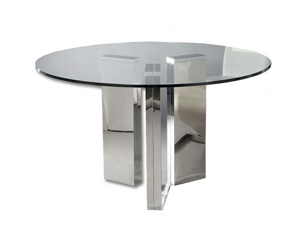 the stand for this dining table is metal which is manufactured to make