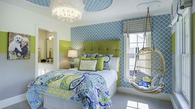 Day beds for teenagers - 15 Stunning Bedrooms With Swing Chairs Home Design Lover